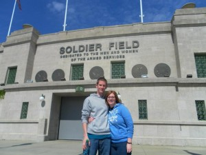 outside Soldier Field